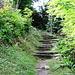 der Beginn des Wanderweges hinauf nach Buol