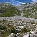 Blick zurück zum Piz Gaglianera; durch das sichtbare Tal sind wir weglos, Steinmännern folgend abgestiegen