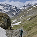 On the way up the Col de Barberine. Almost no snow on the way up.
