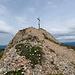 Leicht luftig des felsige Gipfel der Rindalphorns.