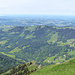 Blick Nordwest über Steibis und Oberstaufen hinweg ins West-Allgäu.