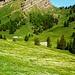 Unter dem Risipass - Blick zu den Alpen Langzimmer und Gerli, darüber der Stockberg