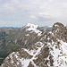 Blick vom Nebelhorn Richtung Hindelanger Klettersteig. Da herrscht noch Winter.