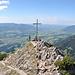 Rubihorn, Blick auf den Kreuzgipfel vom höchsten Punkt aus.
