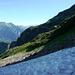 Abstieg vom Rosso di Ribia - obligater Abstieg auf 2000m, Blick zum N-Grat des Rosso di Ribia und ins Val Campo Vallemaggia