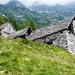 Alpe dell'Efra - Blick zurück auf den zurückgelegten Weg, jetzt in Wolken gehüllt