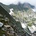 Auf dem Grat zum Basal - Blick in den Talabschluss des Val Nedro mit der Cima di Nedro 2622m im Nebel