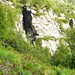 Aufstieg im Val Marcri zum Passo dei Rampi - Durch dieses Kamin gehts weiter.jpg
