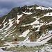 Der Bergsee Malé Žabie Pleso (1919,5m) vor dem Gipfel Mengusovský Volovec (2227,5m).