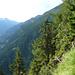 Kurz nach der Capanna d'Afata - Blick ins Haupttal des Ticino