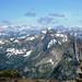 Pizzo Mezzodi - Panorama gegen Süd-Westen in die Walliser Alpen