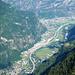 Tiefblick in die Leventina - Bodio, Pollegio und Biasca