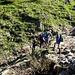 Una delle varie vallette che si attraversano sul sentiero Lanes - Luarn