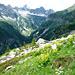 Val Vegorness - Blick zu Corona di Redorta, Madas und Pizzo Campala