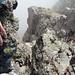 Spalte am Gipfel des Charenstocks: Es geht da ganz schön runter.