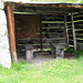 rustico rifugio aperto all'alp Muntasch