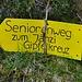 """Abstieg auf dem """"Seniorenweg"""""""