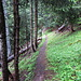 auf schmalem Weg hinauf nach Pra de Taillour