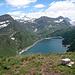 oltre al lago Ritom e Cadagno a sinistra il lago Tom