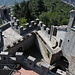 San Marino - Blick vom zweiten Turm (aka La seconda torre, Cesta bzw. Fratta) auf die südlichen Teilbereiche der Festungsanlage.