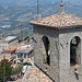 San Marino - Dachlandschaften an der Festung Guaita und in der Altstadt.