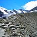 Auf dem Moränenkamm Richtung Rothornhütte
