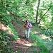Sulla mulattiera che da Boccioleto sale alla frazione Ronchi.