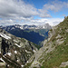 Blick hinab vom Passo Fornale