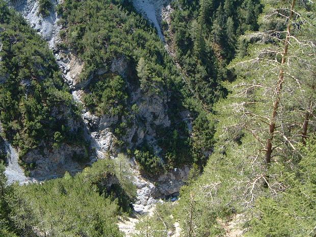 Val d'Ascharina, vista dal nascondiglio dei cacciatori