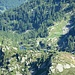 Blick hinunter zum Lago di Sfii