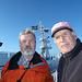 Peter und Andreas nach erlebnisreicher Wanderung auf der Stena Scandinavica