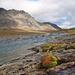 Rast am Ufer des Tjäktjajåkka