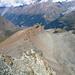 Der Hüttenweg im Abstieg