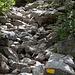 Ab und an sind die Steine auf dem Steig etwas wackelig.