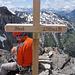 das Gipfelkreuz auf dem Stock war auch noch da...