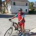 .... il sorridente cicloturista!!!.... a metà percorso...