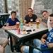 Birra al Rifugio Laurasca per concludere una gran bella Domenica. Da sx verso dx :Alessandro,Mike,Asky,Teo,Alberto.