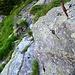 Die Steilpassage des Costa ist mit Eisenbügeln gesichert