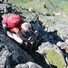 ... auf den Gipfel, welcher auf Reibung erfolgt