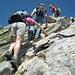 ... pochi metri che presentano una facilissima e divertente arrampicata: VAI ELE...!!!