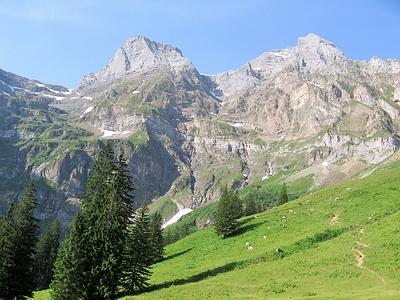 La testata della Chlital, l'Uri Rotstock è nascosto dal Chessel e dallo Schlieren.