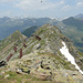 Blick vom Pizzo Erra nach Norden zum beinahe genauso hohen 2. Gipfel