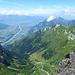 Nochmal Rheintal etwas herangezoomt mit Liechtenstein