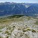 Abstiegsroute Richtung Wald (Bildmitte)