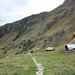 Von dieser Alp geht es nach links zum Stausse, nach rechts zur Oberalletschhütte und geradeaus zum Hotel Belalp.