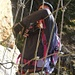 Andy hängt in den Seilen