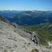 Der Blick schweift über die Chuecalanda in die Albula Alpen.
