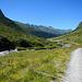 Ab der Oberen Valzifenzalpe geht's auf Fahrwegen hinaus nach Gargellen.
