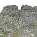 Gargäller Chöpf, Gipfelfelsen.<br />Mein Aufstieg erfolgte durch die Rinne am linken Bildrand