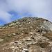 Vorletzter Gipfelaufschwung. Das Foto entstand nach des ausgesetzten Passage.